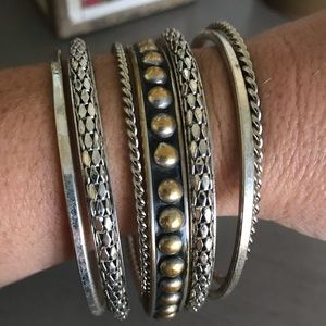 Jewelry - 7pc Vintage Bangle Bracelet Set